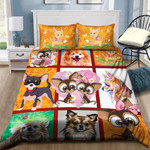 Chihuahua Love Printed Bedding Set Bedroom Decor