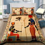 Egypt King Pattern Printed Bedding Set Bedroom Decor