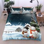 Christmas Snowman And Gift Printed Bedding Set Bedroom Decor