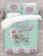 Flower Paradise Enjoy The Countryside By Bicycle Bedding Set Bedroom Decor