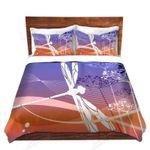 A Dragonfly Flying Sky Printed Bedding Set Bedroom Decor