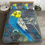 Budgerigar Parrot At Night Printed Bedding Set Bedroom Decor