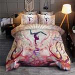 Beautiful Yoga Lotus Pink Bedding Set Bedroom Decor