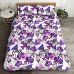 Butterfly Violet  Printed Bedding Set Bedroom Decor