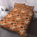 Dogs Collection Brown Printed Bedding Set Bedroom Decor
