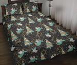Angel Christmas Star Pattern Printed Bedding Set Bedroom Decor