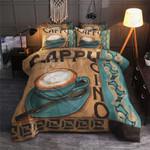 Enjoy Coffee Cappuchino Printed Bedding Set Bedroom Decor