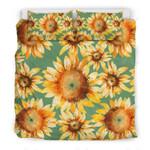 Drawing Sunflower Sunshine Printed Bedding Set Bedroom Decor