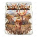 Deer Dawn In Forest Bedding Set Bedroom Decor