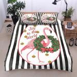 Flamingo Joy To The World Bedding Set Bedroom Decor
