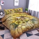 Bee And Sunflower Bedding Set Bedroom Decor