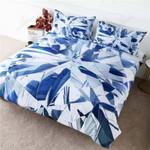Blue Geometric Prism Printed Bedding Set Bedroom Decor