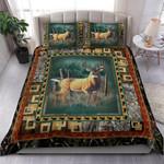 A Deer Printed Bedding Set Bedroom Decor
