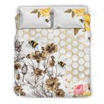 Be Like The Bee Printed Bedding Set Bedroom Decor