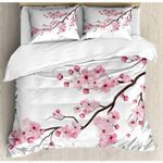 Awesome Cherry Flowers Bedding Set Bedroom Decor