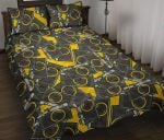 Camera Pattern Black And Yellow Printed Bedding Set Bedroom Decor