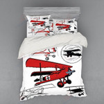 Airplane Discovery Space Bedding Set Bedroom Decor