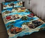 Car Go To Beach Printed Bedding Set Bedroom Decor