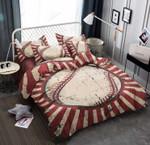 Baseball Red  Printed Bedding Set Bedroom Decor