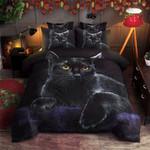 Black Cat  Printed Bedding Set Bedroom Decor