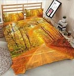Awesome Autumn Road Printed Bedding Set Bedroom Decor
