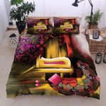 Calligraphy Pattern Printed Bedding Set Bedroom Decor