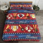 Baseball National All Star American Printed Bedding Set Bedroom Decor