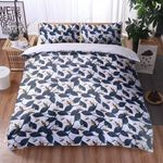 Bee Leave Pattern Printed Bedding Set Bedroom Decor