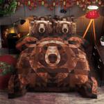 Bear Brown Printed Bedding Set Bedroom Decor