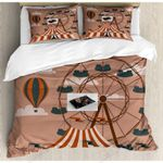 Circus Air Balloon Pattern Bedding Set Bedroom Decor