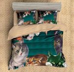 Cats Play All Time Printed Bedding Set Bedroom Decor