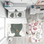 Afro Woman Shine Your Light Printed Bedding Set Bedroom Decor
