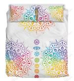 Colorful Chakra Mandala Printed Bedding Set Bedroom Decor