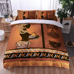 African Girl Zigzag Pattern Printed Bedding Set Bedroom Decor