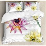 Cactus Flowers Art Painting Printed Bedding Set Bedroom Decor