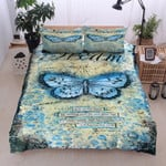 Butterfly Dream Hope Printed Bedding Set Bedroom Decor
