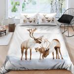 Cozy Deer Family Printed Bedding Set Bedroom Decor