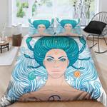 Cancer Zodiac Pattern Printed Bedding Set Bedroom Decor