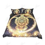Awesome Golden Tortoise Printed Bedding Set Bedroom Decor