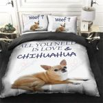 All You Need Is Love Chihuahua Dog Printed Bedding Set Bedroom Decor