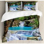 Beautiful Waterfall Scenery Printed Bedding Set Bedroom Decor