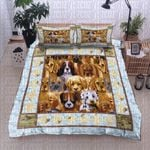 Dog Breeds Blue Bedding Set Bedroom Decor