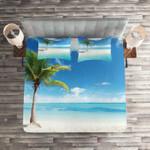 Beach Single Palm Tree Printed Bedding Set Bedroom Decor
