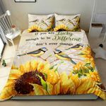 Bird Sunflower Printed Bedding Set Bedroom Decor