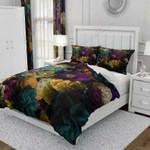 Dark Color Romantic Floral Bedding Set Bedroom Decor