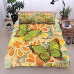 Butterfly Flower Background Printed Bedding Set Bedroom Decor