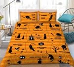 Black Cat Playing Printed Bedding Set Bedroom Decor