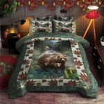 Bear In Wild Life Printed Bedding Set Bedroom Decor
