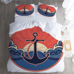 Anchor Great Waves Bedding Set Bedroom Decor