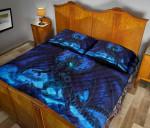 Dragon Blue  Printed Bedding Set Bedroom Decor